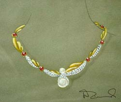 necklace design by Walter Zimochod
